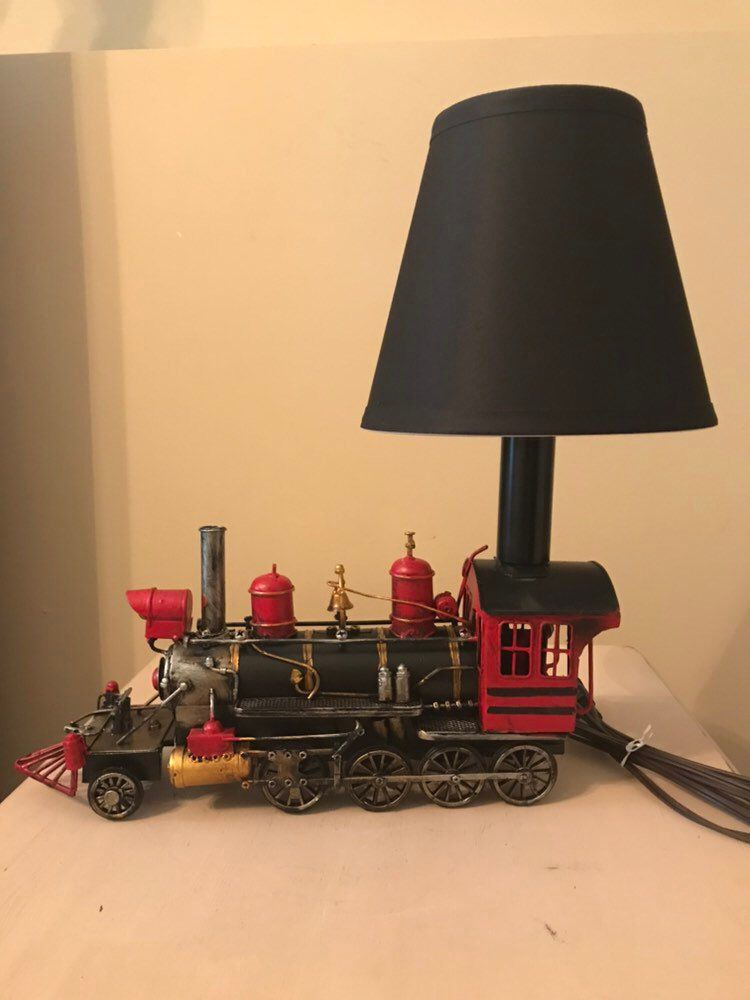 Excited To Share This Item From My Etsy Shop Metal Train Lamp Train Locomotive Babyshower Bedroom Lamparas