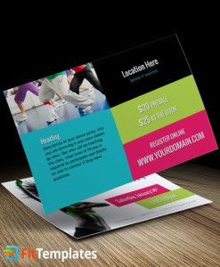 Dance fitness postcard template for zumba instructors from fit business cards dance fitness postcard template for zumba reheart Gallery