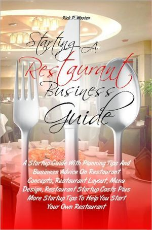 Starting a restaurant business guide a startup guide with for Design your own restaurant