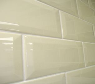 Subway tile for bathroom bevelled edge gloss finish but in