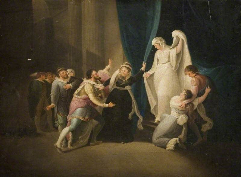 Scene from Shakespeare's 'A Winter's Tale' by William Hamilton ...
