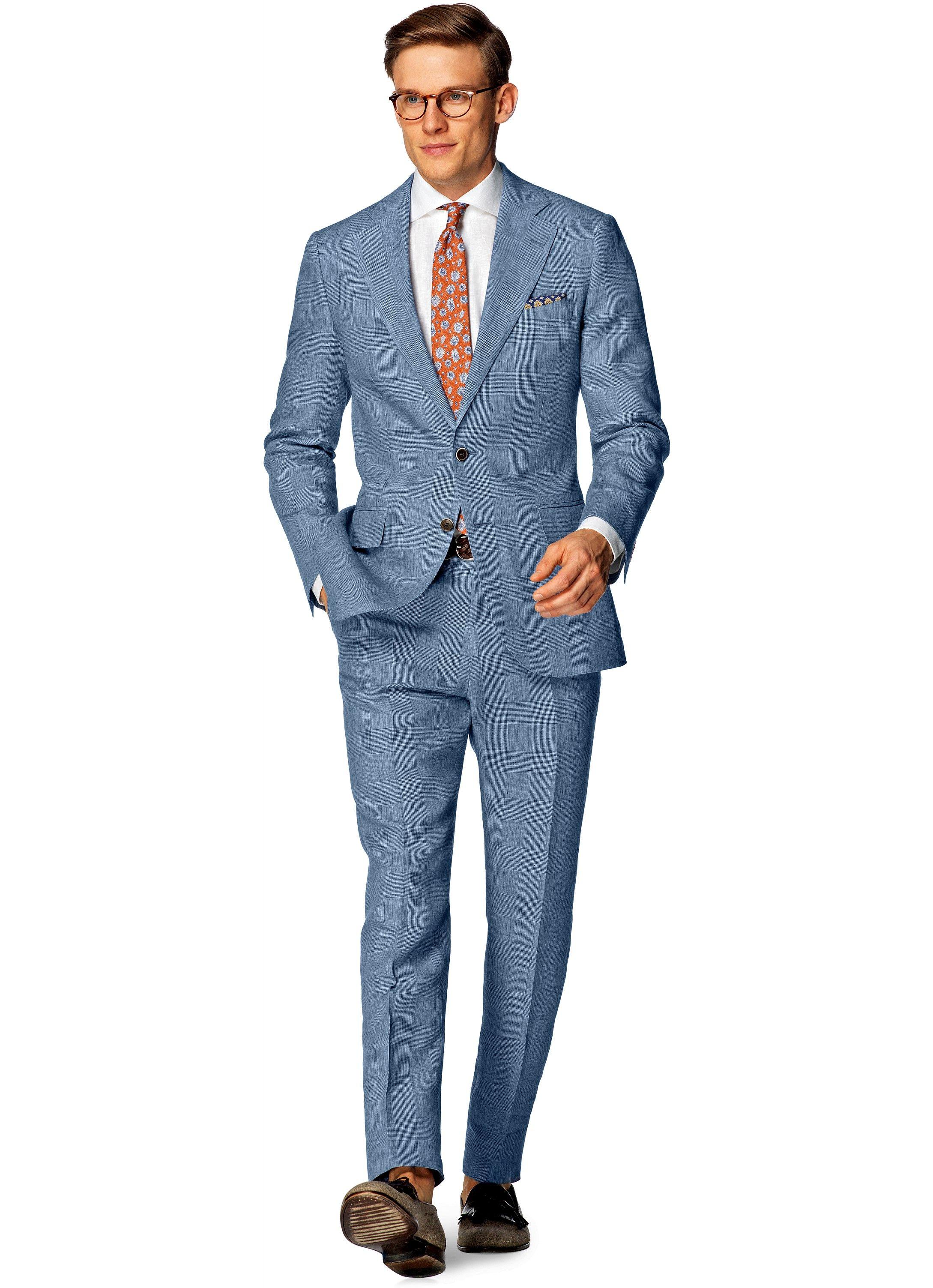 Suit Light Blue Check Lazio P4235i | Suitsupply Online Store ...