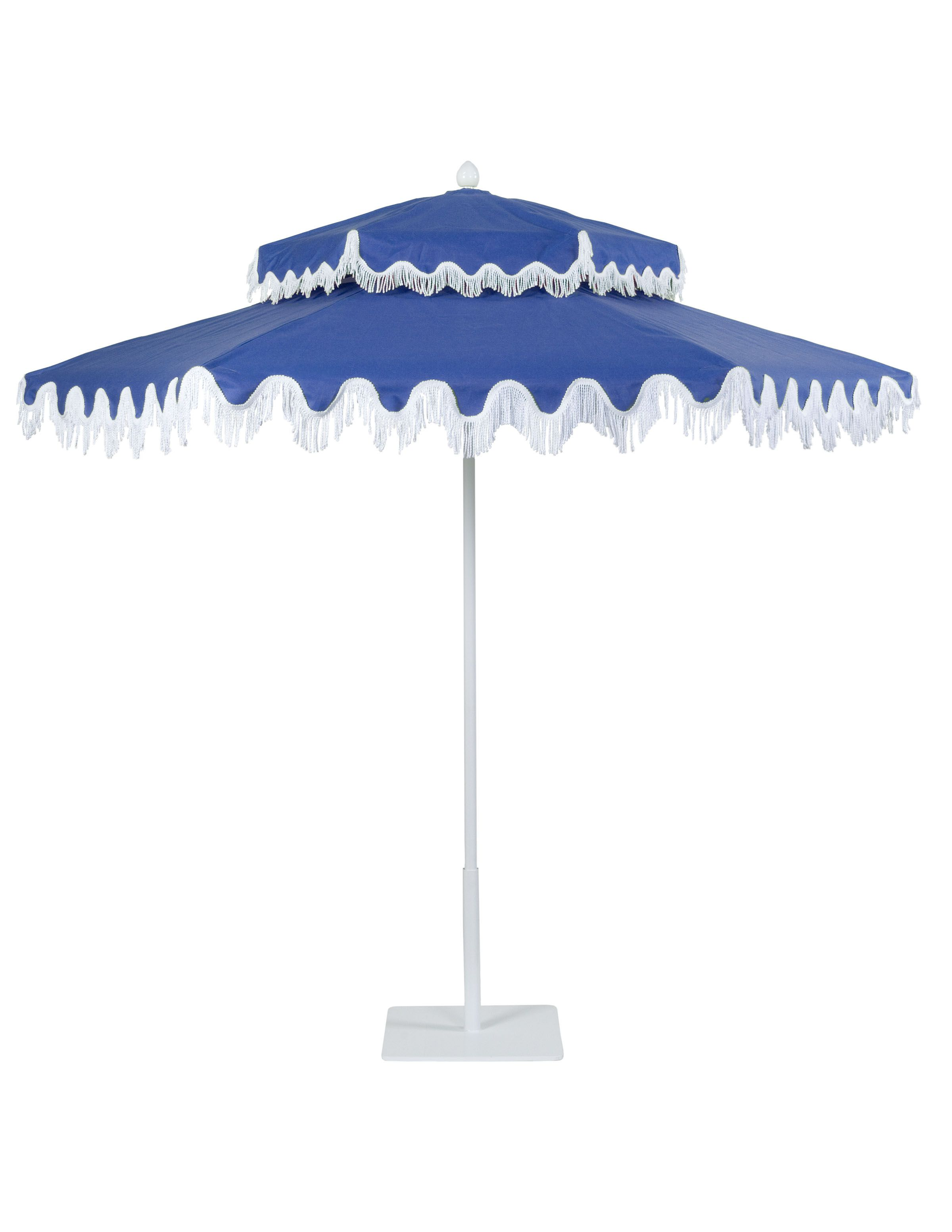Double Decker aluminum umbrella with White frame in Anchor