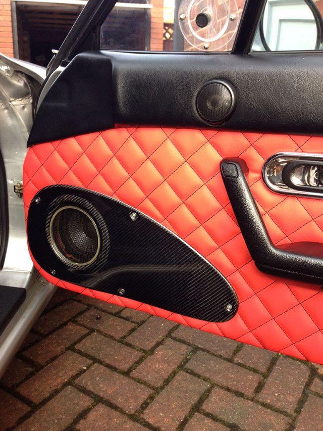 Carbonmiata Quilted Door Cards For Na Miata Custom Car Interior Mazda Miata