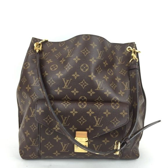 Louis Vuitton Metis This bag is in great pre loved condition it is missing a strap and does not include a dust cover or box the strap does have some wear and tear the inside interior also has some staining. MAX060378PZXPP Louis Vuitton Bags Hobos