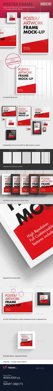 Poster / Artwork Frame MockUp — Photoshop PSD #frames #passepartout • Available here → https://graphicriver.net/item/poster-artwork-frame-mockup/10115141?ref=pxcr