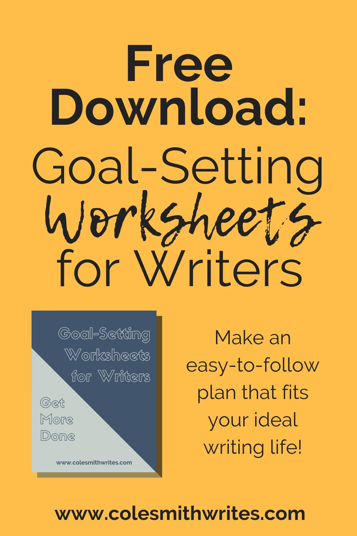 Free Downloadable Goal Setting Worksheets