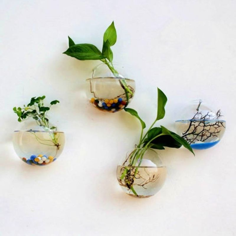 Glass Bubble Flower Vase Glass Planter Hydroponics Air Plant Bulb 2 Balls