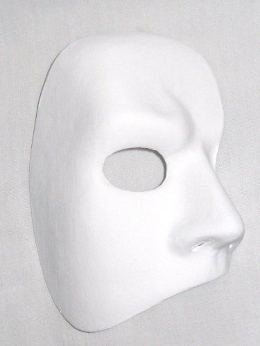 Blank Face Masks To Decorate Blank White Phantom Of The Opera Venetian Masquerade Mask
