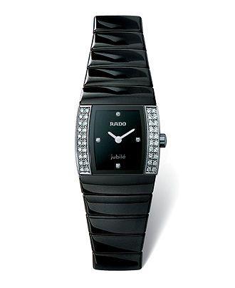 3998bef53 Rado Watch, Women's Sintra Jubile Black Bracelet R13618712 - Rado - Jewelry  & Watches - Macy's