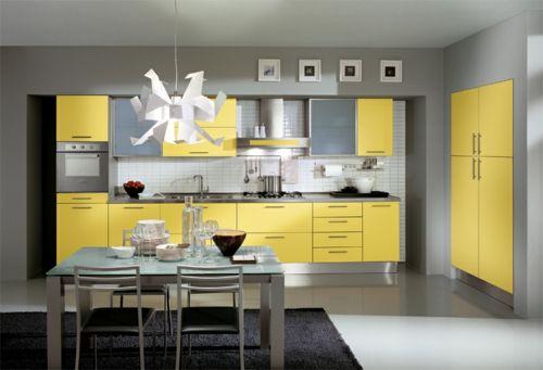 gelbe Küchen oberflächen esstisch stühle Décor and Inspirations - küchen in grau