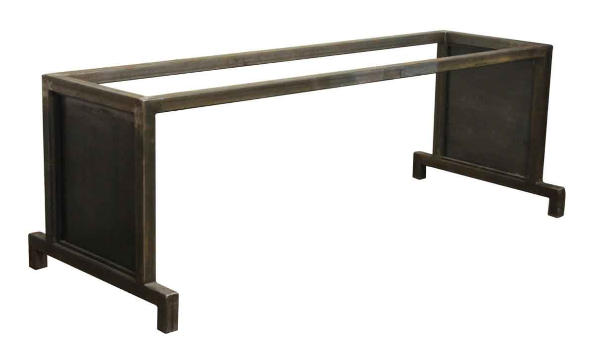 Long metal table base