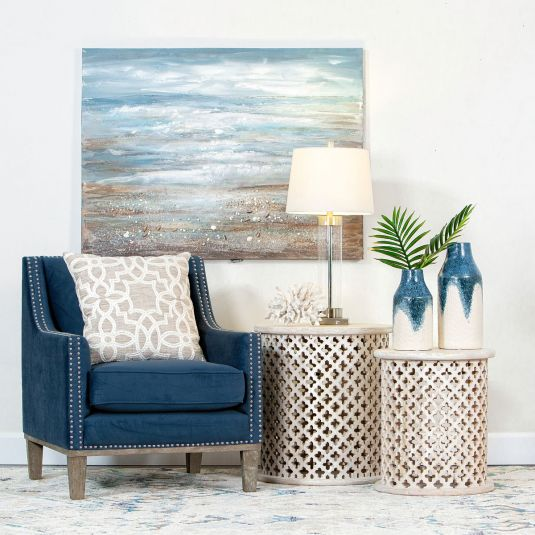 Clair Navy Accent Chair | Accent chairs, Jerome furniture ...