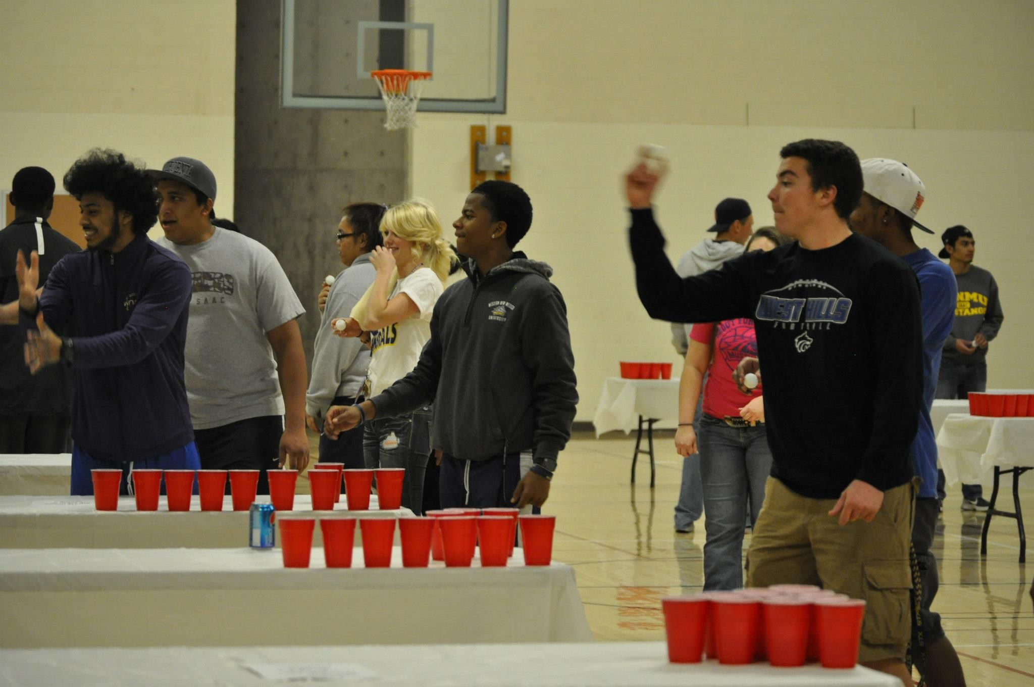 One giant water pong tournament