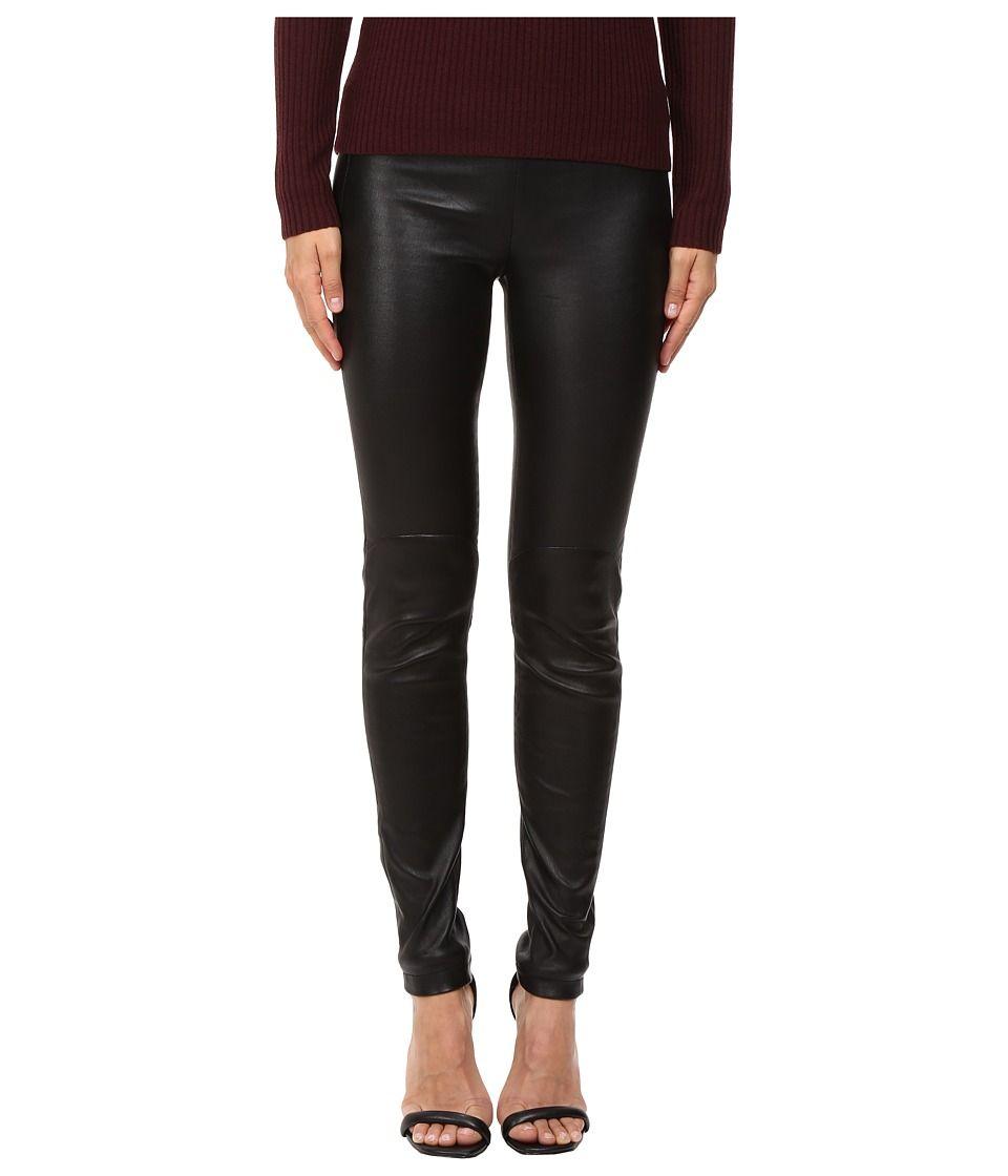 624c780c920b58 LAMARQUE Kelly-L Stretch Leather Leggings Women's Casual Pants Black ...