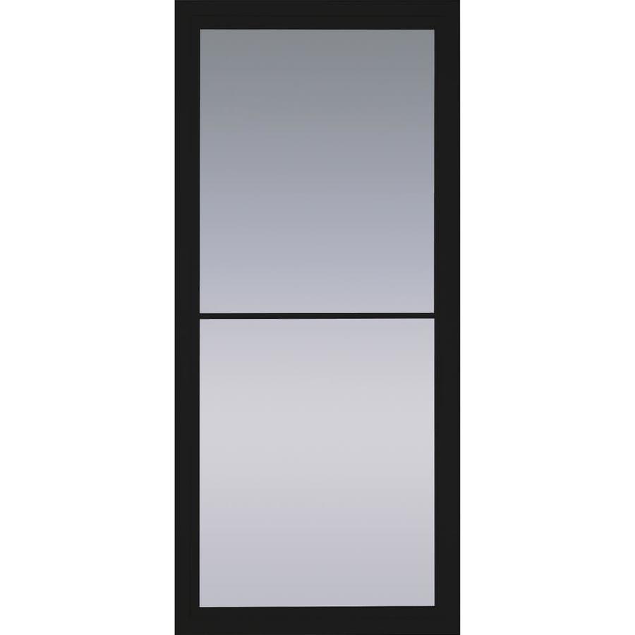 Pella Rolscreen Black Full View Aluminum Storm Door With Retractable