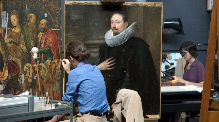 Paintings Conservation Studio at the MFA, Boston