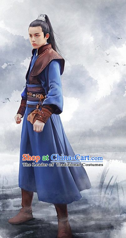 1142f0d40 Ancient Chinese Swordsman Halloween Costumes Complete Set   Costumes ...