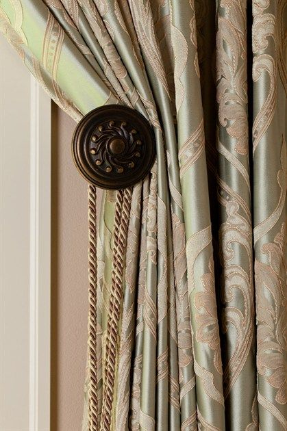 Celuce emerald bouquet curtain set with swags and jabots for Celuce curtains