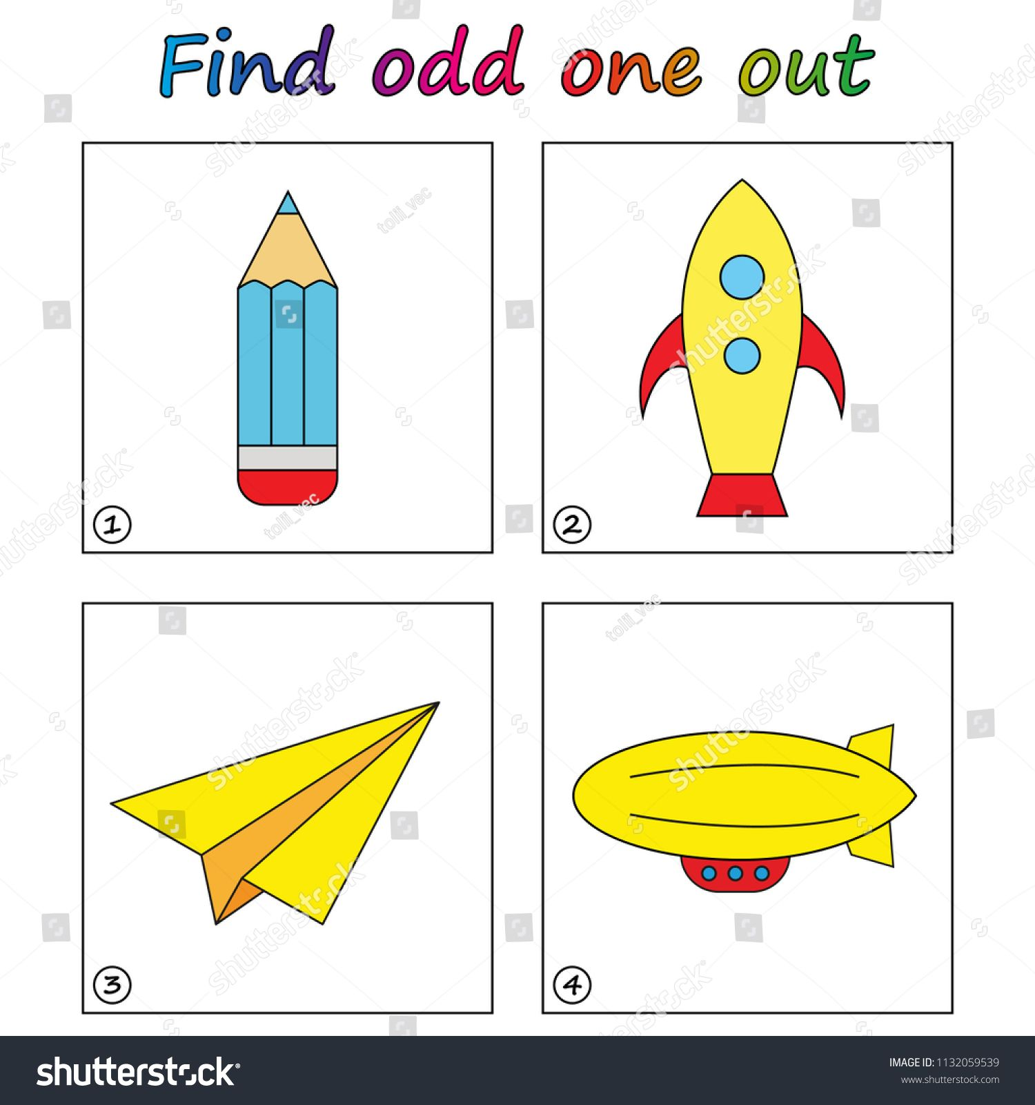 Find Odd One Out Game For Kids Worksheet Visual Educational Game For Children A Math Activities Preschool Educational Games For Kids Preschool Activities [ 1600 x 1500 Pixel ]