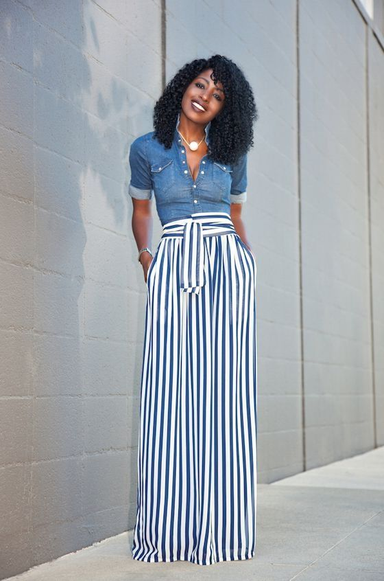 palazzo pant outfits - Google Search | Skirt fashion, Maxi skirt style,  Maxi skirt outfits