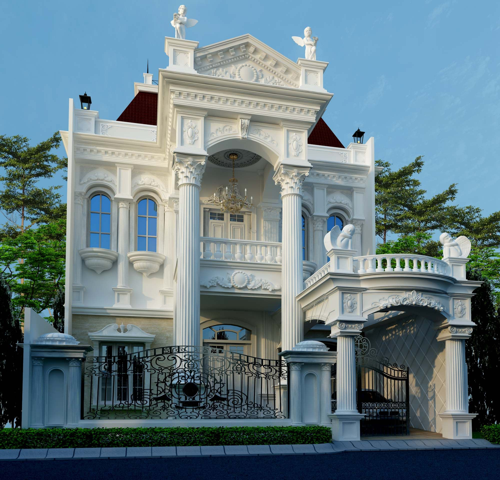 Luxury Villa Designs: Luxury Classic Villa Exterior