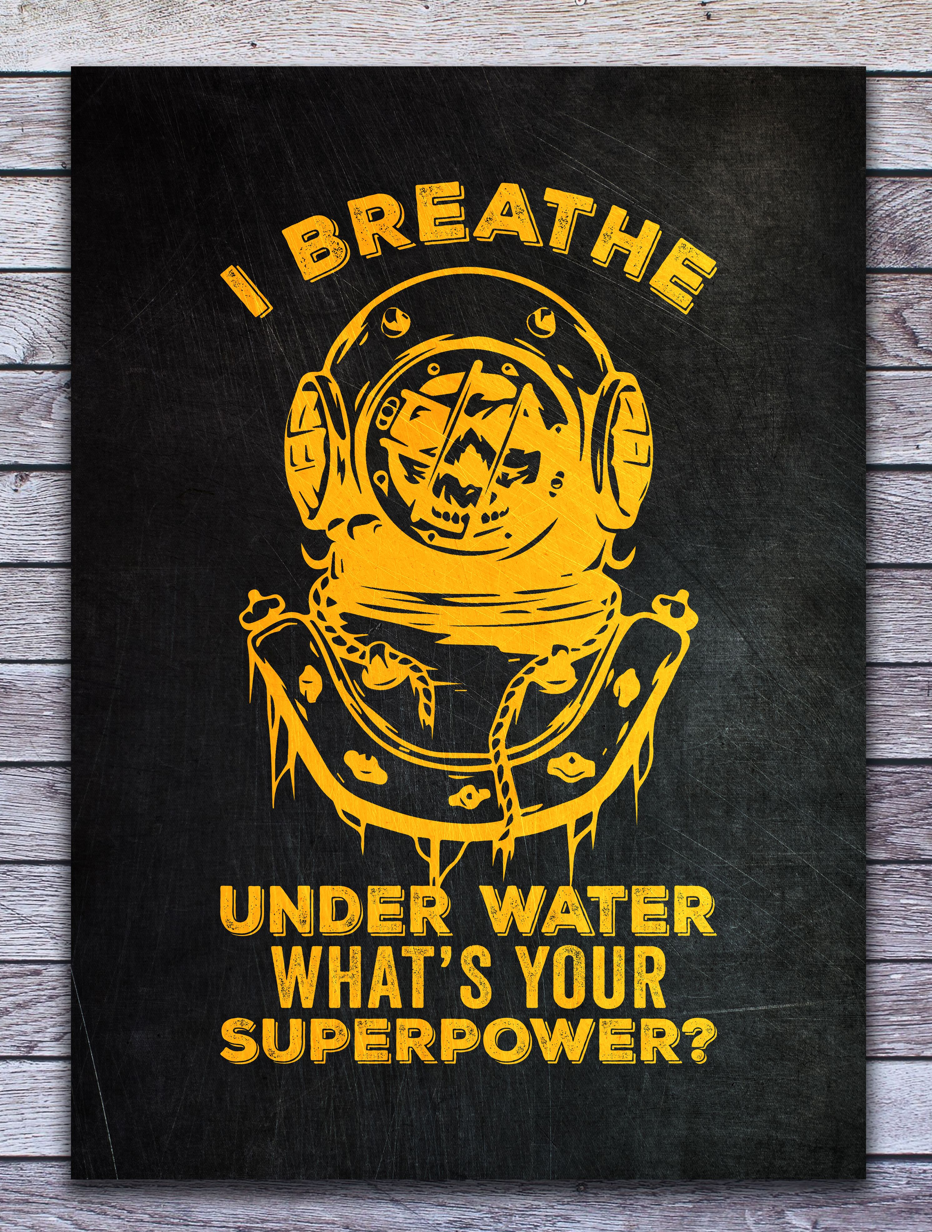 I Breathe Under Water Metal Poster Print Posterworld Displate In 2020 Poster Prints Water Poster Metal Posters