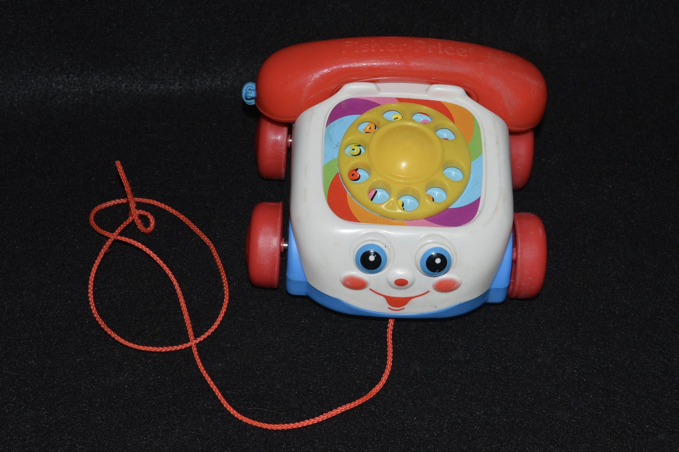 toy phone fisher price chatter box phone telephone toy child s pull toy vintage toys toy rotary phone wheeled phone phone toy by  [ 2576 x 1713 Pixel ]