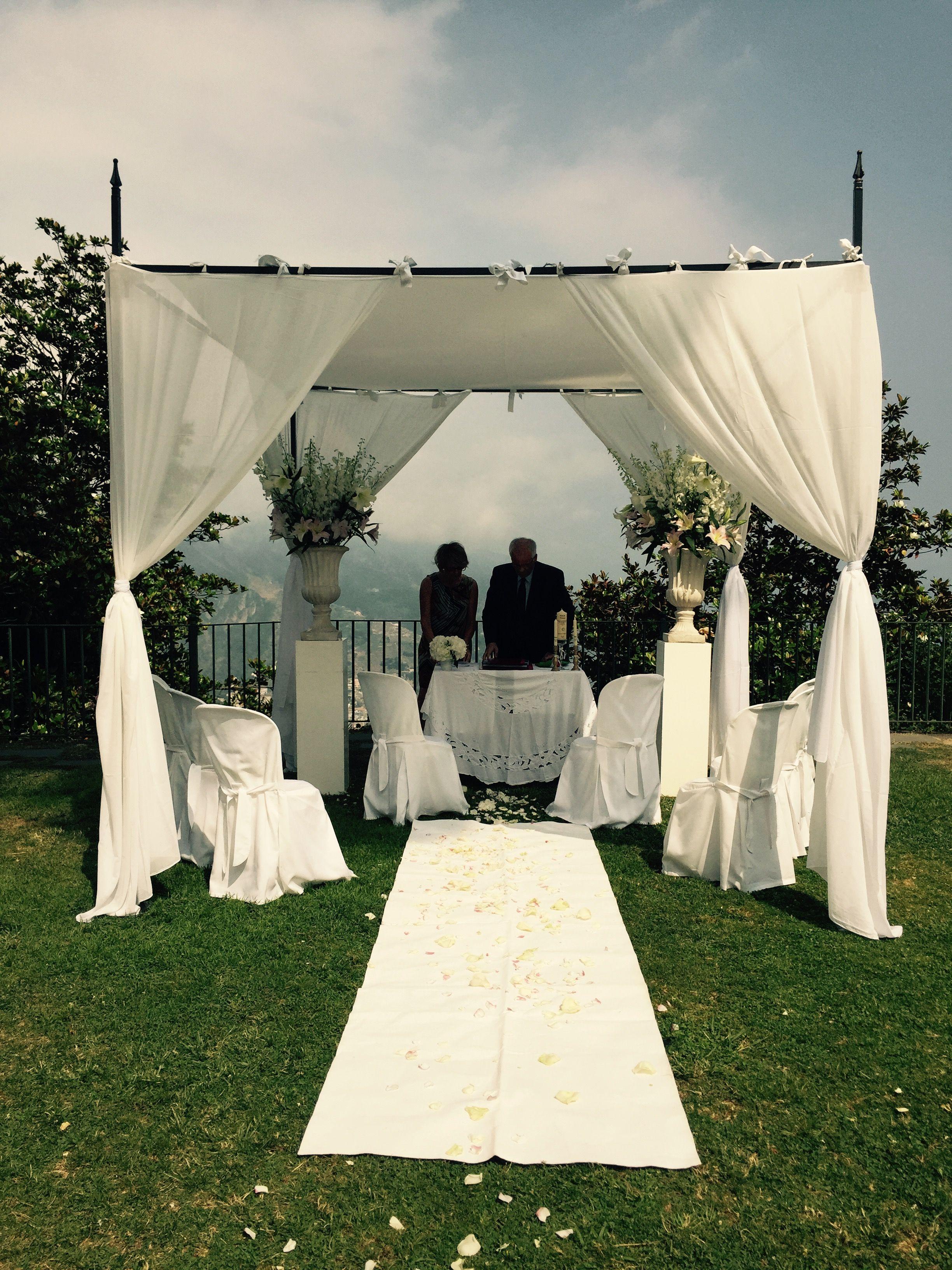 Civil Wedding, Principessa di Piemonte, Wedding day, white and green colors, white roses, Hotel Bonadies, Sposa Mediterranea, Federica Wedding Planner, Ravello Italy