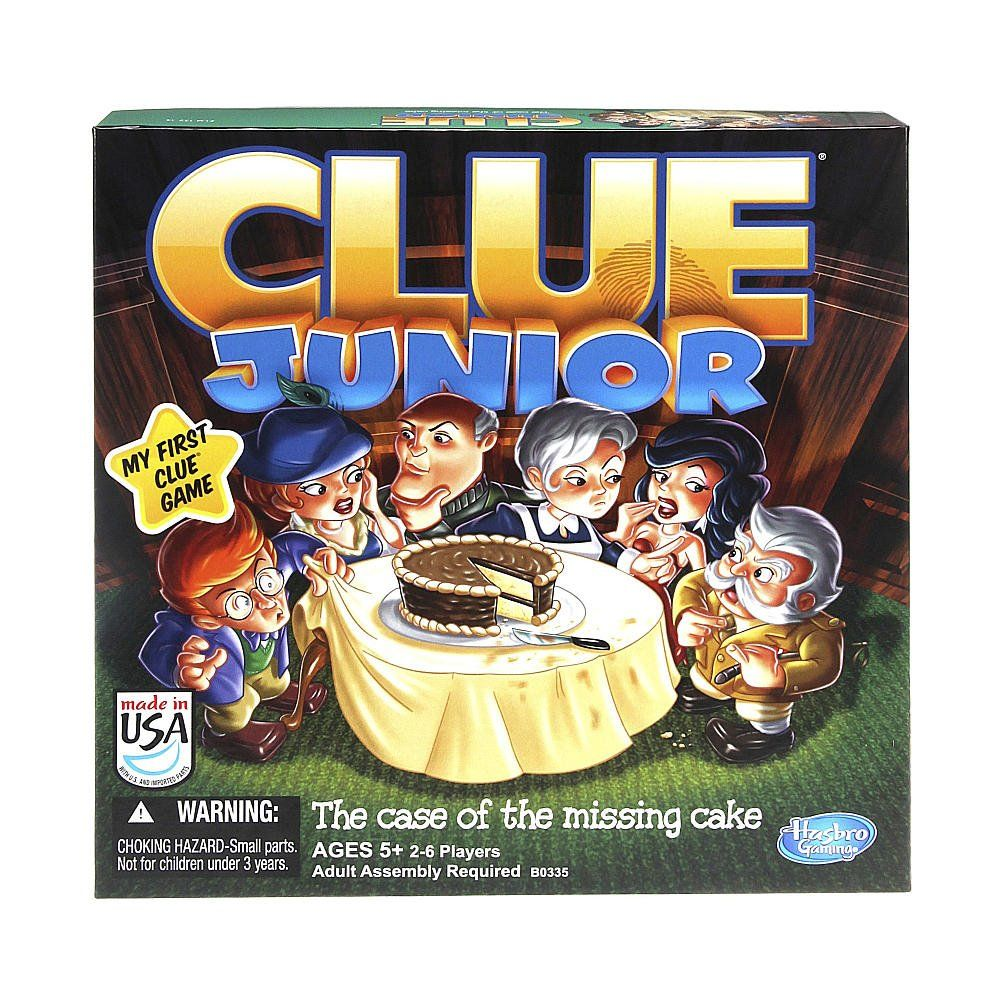 Hasbro Clue Junior Board Game The Case Of The Missing Cake Kids