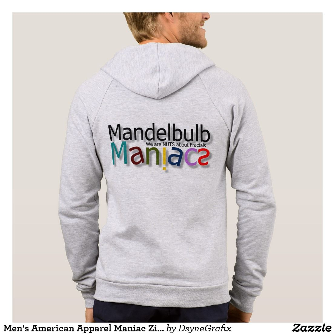 Men's American Apparel Maniac Zip  Hood Hoodie