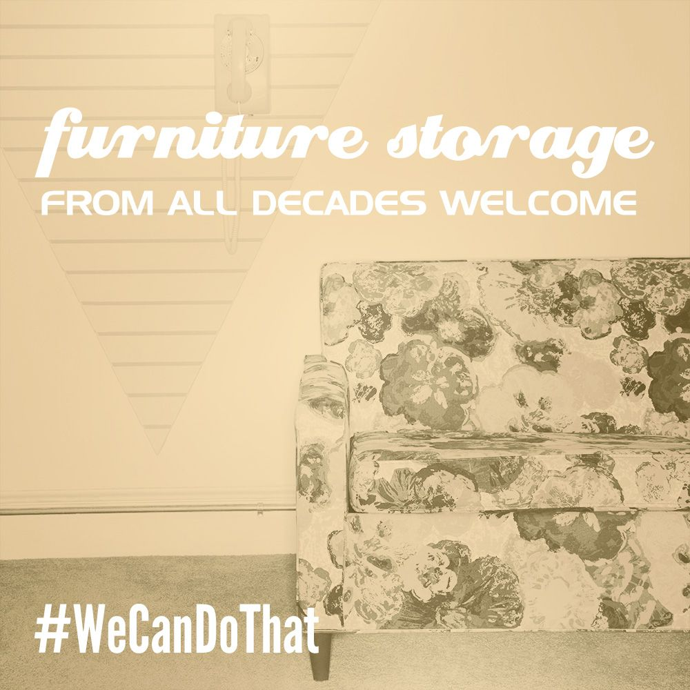 Need to store your floral pattern couch? #WeCanDoThat  Call our experienced team today 615-200-0833