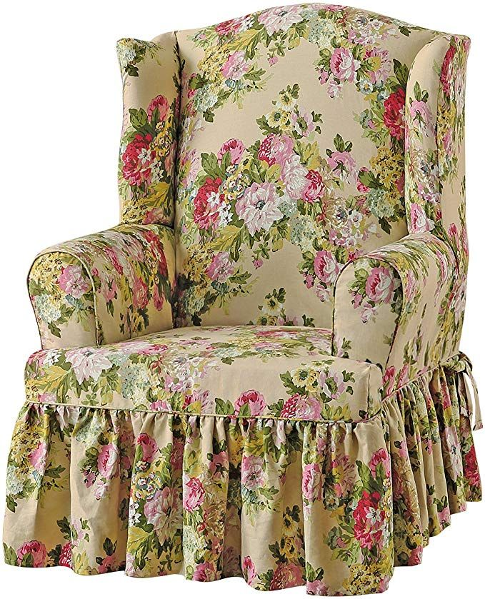 Sure Fit Juliet by Waverly Wing Chair Slipcover Bliss