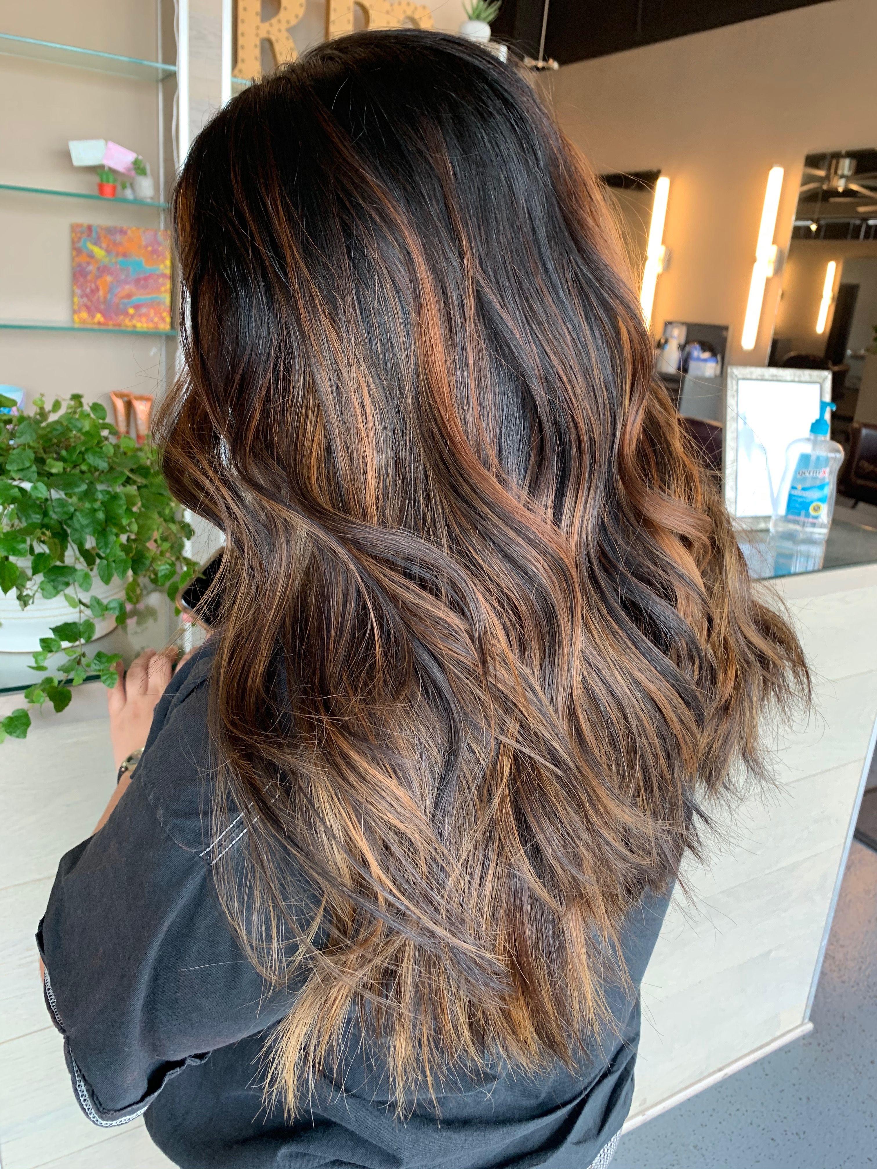 dark brown balayage in 2020 Black hair dye, Brown hair