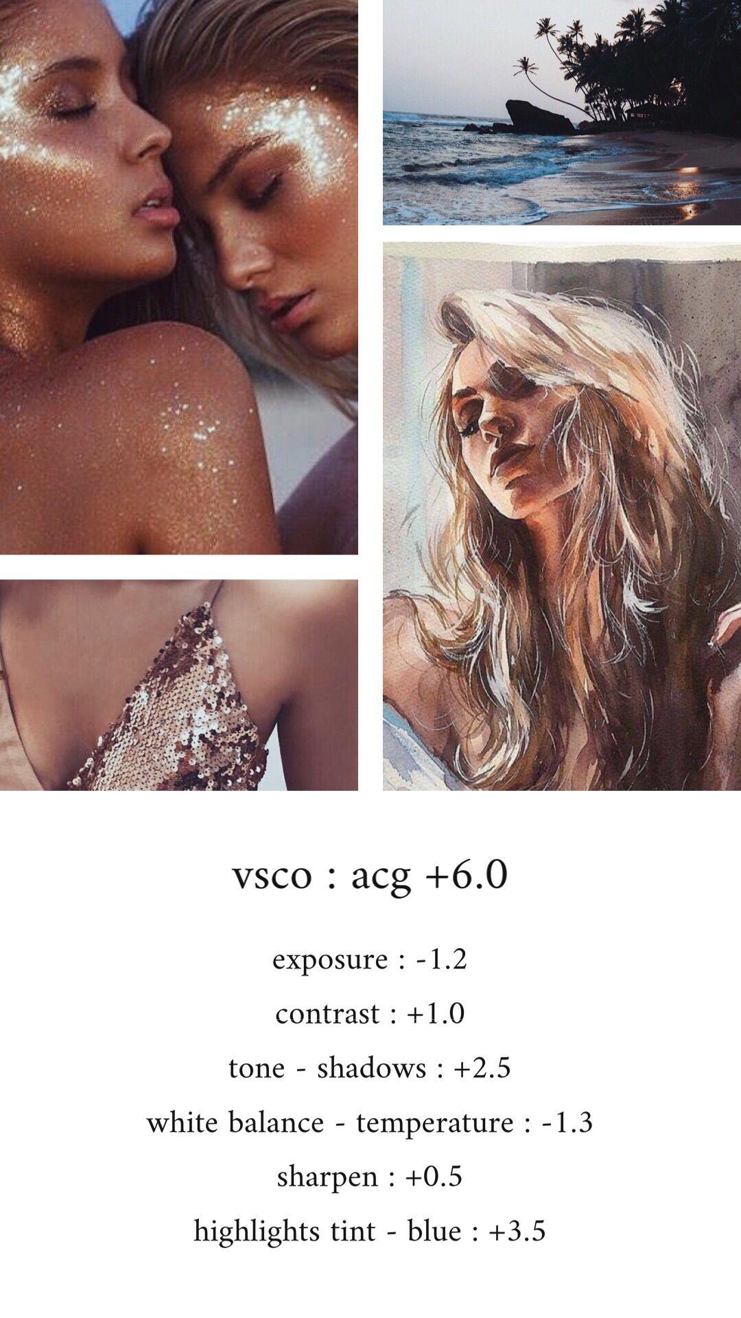 vsco #vscofilter #vscoacg #blue #glitter #beach | Vsco filter | Vsco