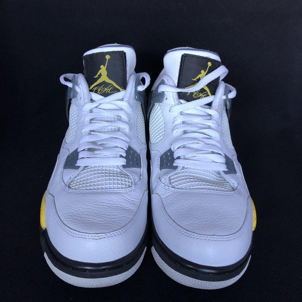 3327b21e4c5e Nike Air Jordan Retro 4 IV LS TOUR YELLOW 2006 RARE AIR 314254-171 ...