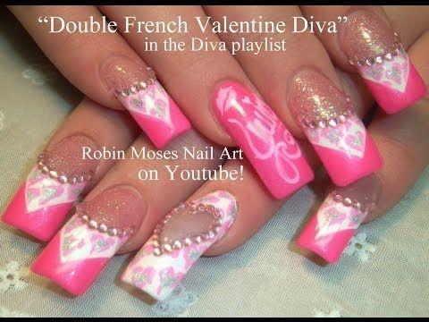 dimonds nails  nail art tutorial  bling nail art diy