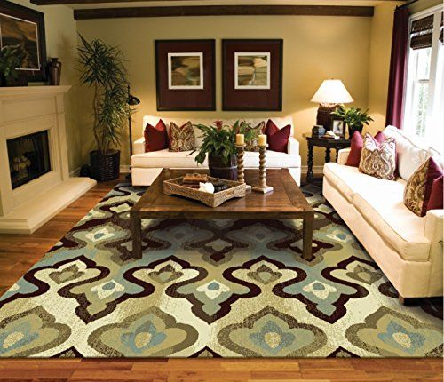 Luxury Contemporary Rug 8x5 Modern Rugs For Living Room Luxtury Candle Pattern Area Floral 5x8