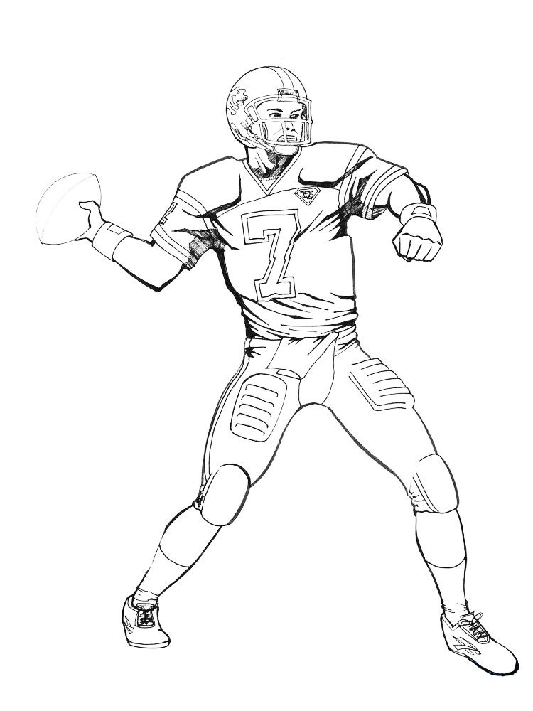 Football Player Coloring Pages Printable Di 2020