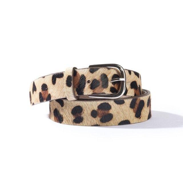 23cbd208a1fb -Une ceinture en cuir avec un bel imprimé léopard, pour offrir une touche  tendance