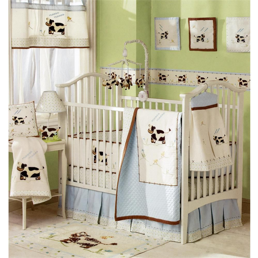 In Love With The Cows Baby Boy Bedding Crib