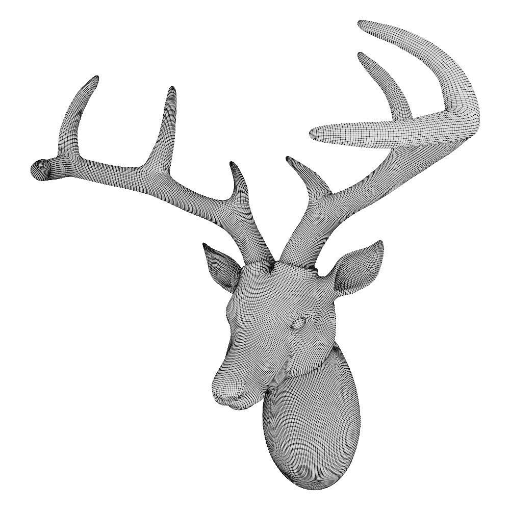 Kare Design Deko Kopf Deer Design Kare Deko Deer Print