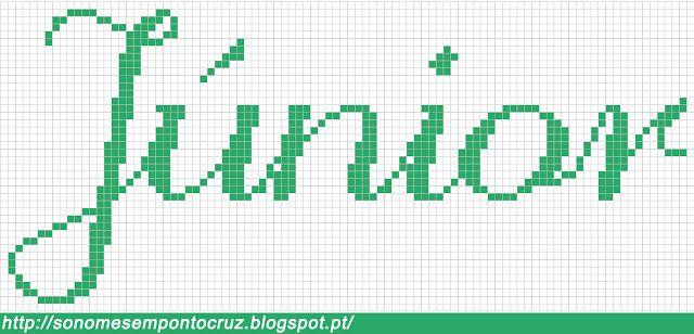 Nomes em Ponto Cruz: Júnior - Nomes em Ponto Cruz