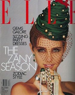 Elle US, December 1990  Photographer : Gilles Bensimon  Model : Roberta Chirko