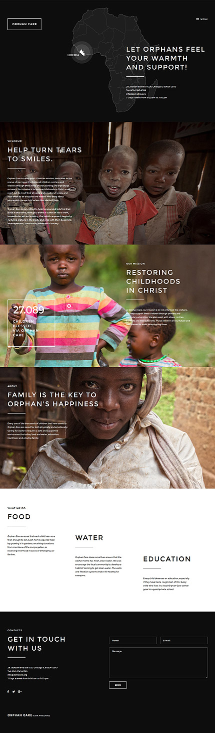 Orphans NGO #website #template #themes #business #responsive - ngo templates