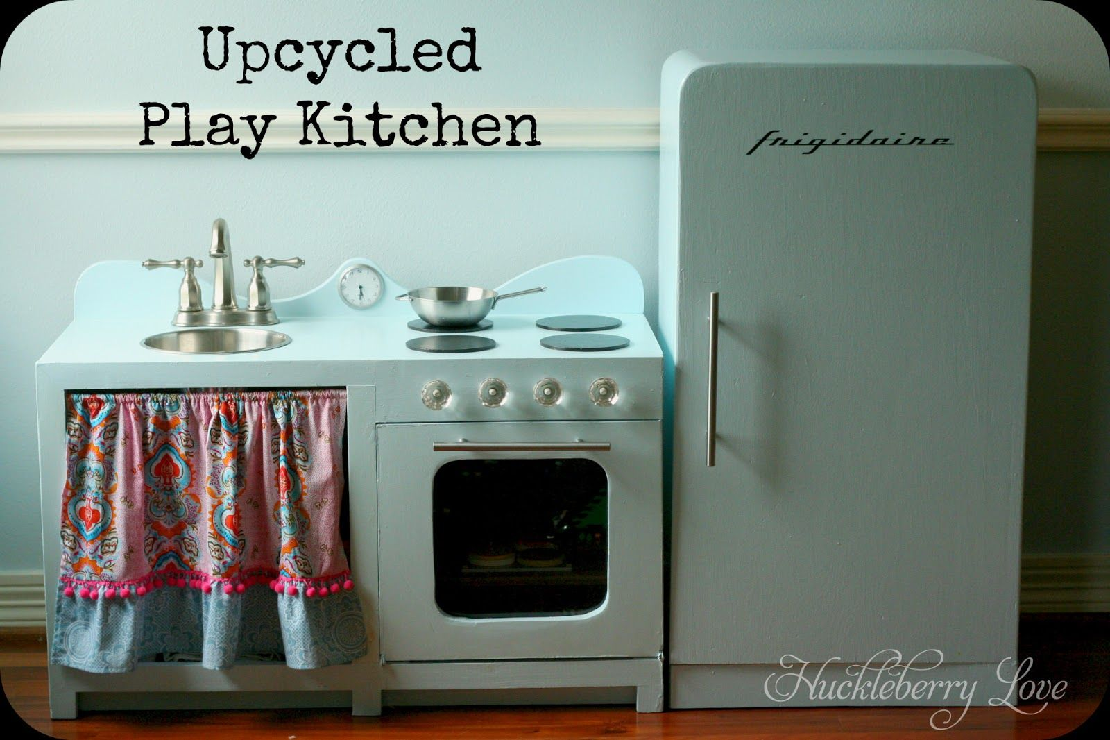 Kids Kitchen Appliances Estimate For Cabinets Huckleberry Love Upcycled Play Fun