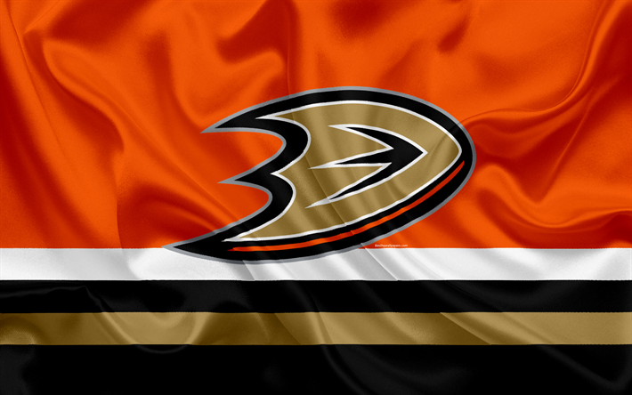 Download wallpapers Anaheim Ducks, hockey club, NHL, emblem, logo, National Hockey League, hockey, Anaheim, California, USA
