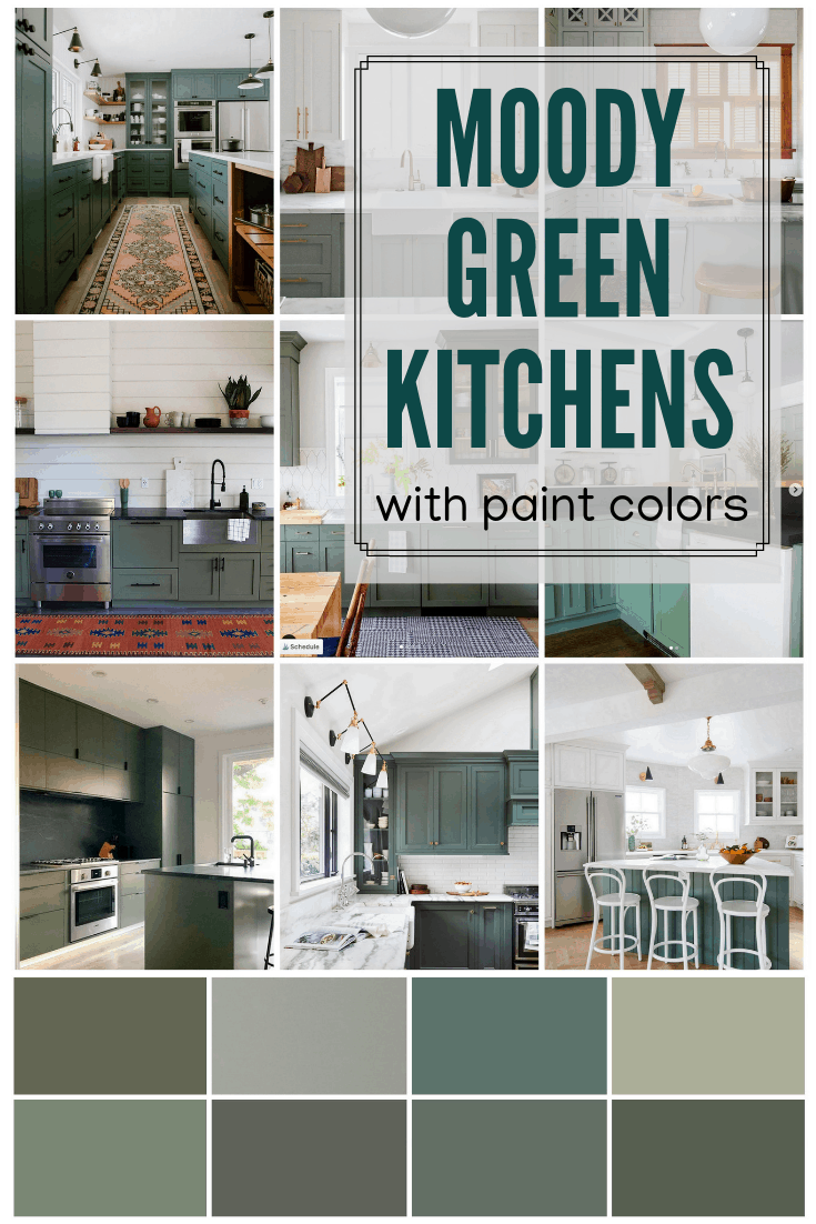 Moody Green Kitchen Cabinet Paint Colors Olive Green Kitchen Green Kitchen Green Kitchen Cabinets