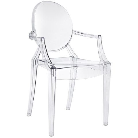 Philippe Starck Style Ghost Arm Chair Clear Contemporary Furniture