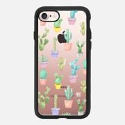 Watercolour pastel cactus hot summer by imushstore